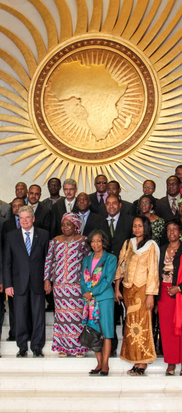 Senior AU officials at the African Union Head Quarters in Addis Ababa, Ethiopia. March 18, 2013.